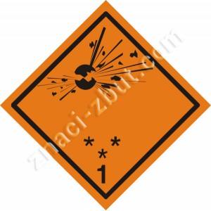 ADR  - Експлозив - Клас 1