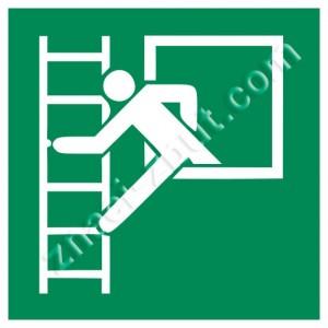Авариен прозорец с евакуационна стълба