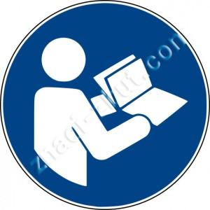"""Задължителен знак - """"Обърнете се към ръководството с инструкции / брошура"""""""