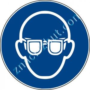 Задължително използване на защитни очила
