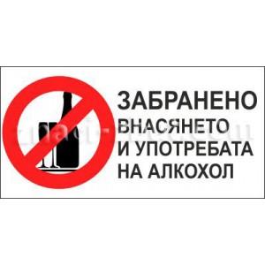 Забранено внасянето и употребата на алкохол!