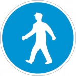 Задължително движение на пешеходците