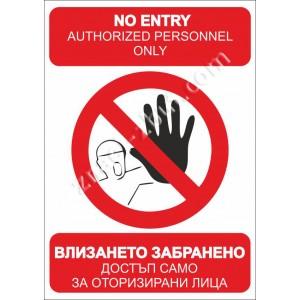 Влизането забранено за неупълномощени лица