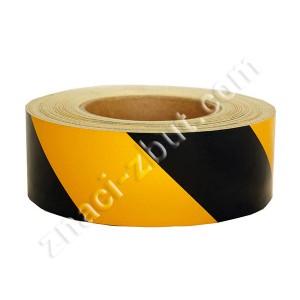 Знак за маркиране на препятствия и опасни места - самозалепваща светоотразителна лента в жълто-черен цвят - 45 метра